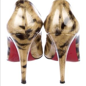 Christian Louboutin  patent leather round toe